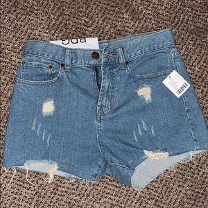 BDG Girlfriend High Rise Denim Shorts